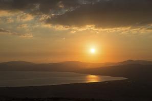 Sonnenuntergang über See Genezareth