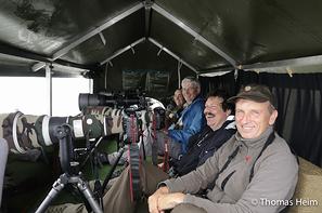 Gruppe in Fotoboot